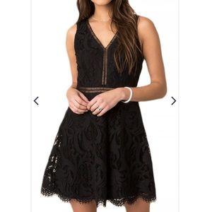 Black Swan Alexis Lace Dress in Black